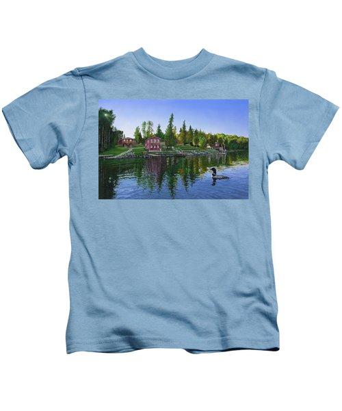 Rocky Shore Lodge Kids T-Shirt
