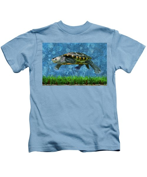 Rodney The Diamondback Terrapin Turtle Kids T-Shirt