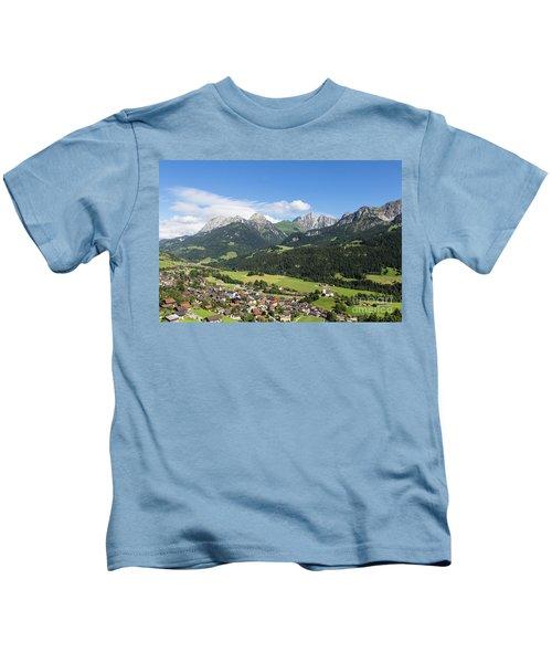 Rougemont Village In Switzerland Kids T-Shirt
