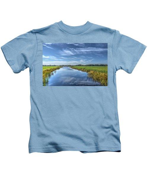Royal Canal And Grasslands Kids T-Shirt