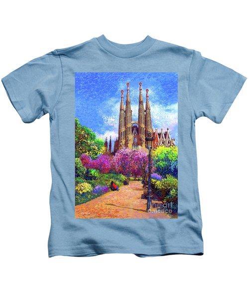 Sagrada Familia And Park Barcelona Kids T-Shirt