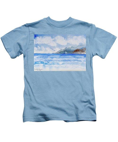 Sailing Into Moorea Kids T-Shirt