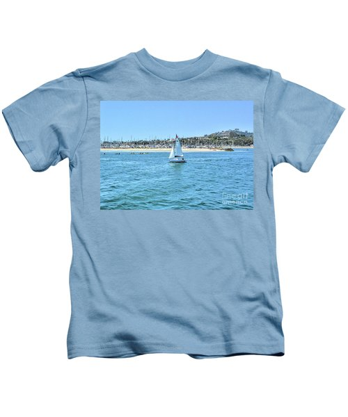 Sailing Out Of The Harbor Kids T-Shirt
