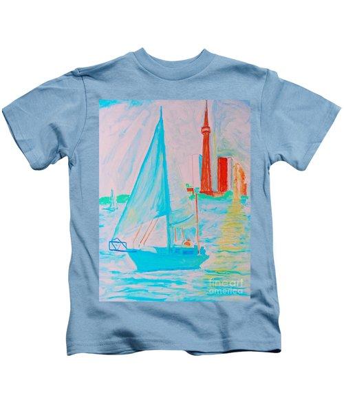 Sailing Toronto, Canada Kids T-Shirt