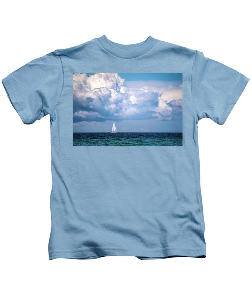 Sailing Under The Clouds Kids T-Shirt