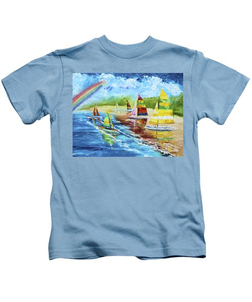 Sails On The Beach Kids T-Shirt
