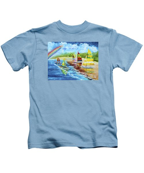 Sails On The Beach Kids T-Shirt