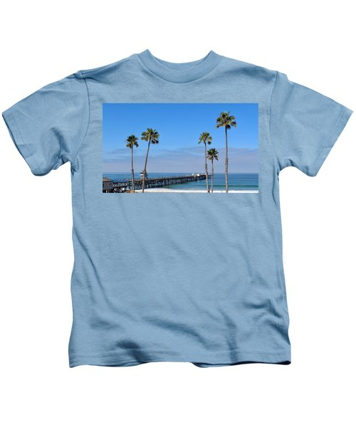 San Clemente Pier Kids T-Shirt