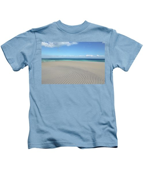 Sand Dune Ripples And The Ocean Beyond Kids T-Shirt