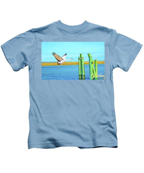 Sandhill Crane Kids T-Shirt