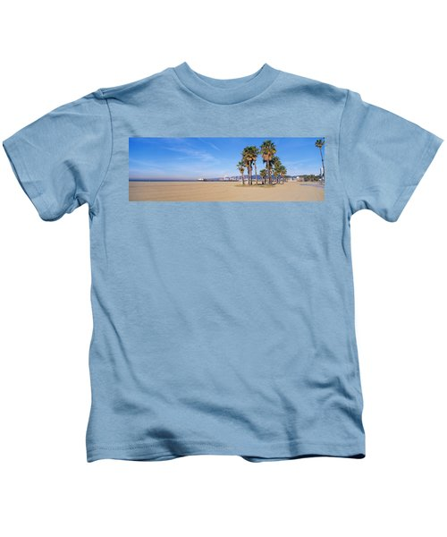 Santa Monica Beach Ca Kids T-Shirt