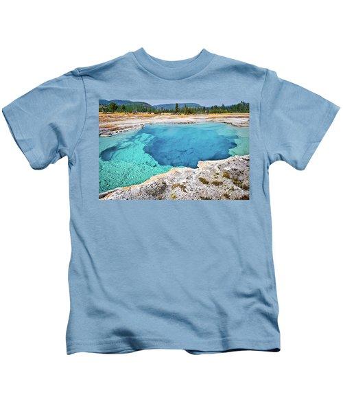 Sapphire Pool, Biscuit Basin Kids T-Shirt