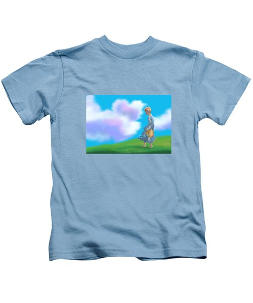 Sarah's Summer Stroll Kids T-Shirt