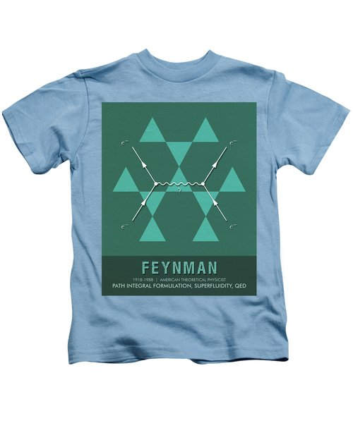 Science Posters - Richard Feynman - Theoretical Physicist Kids T-Shirt
