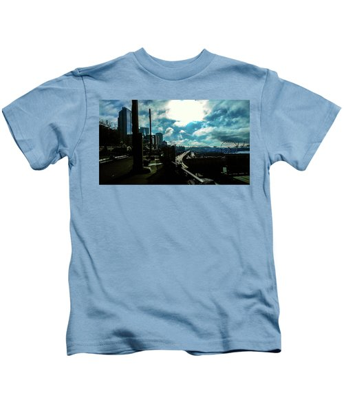 Sea Side, Seattle  Kids T-Shirt