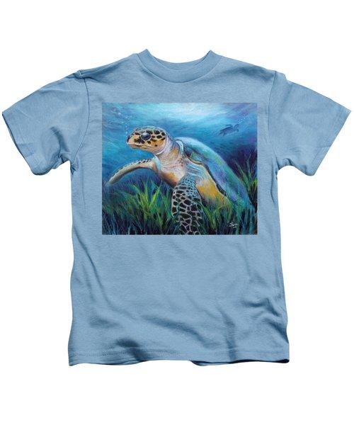 Sea Turtle Cove Kids T-Shirt