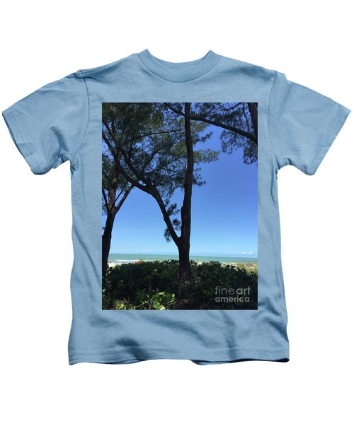 Seagrapes And Pines Kids T-Shirt by Megan Cohen