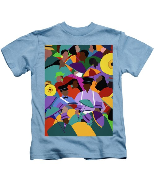 Second Line New Orleans Kids T-Shirt