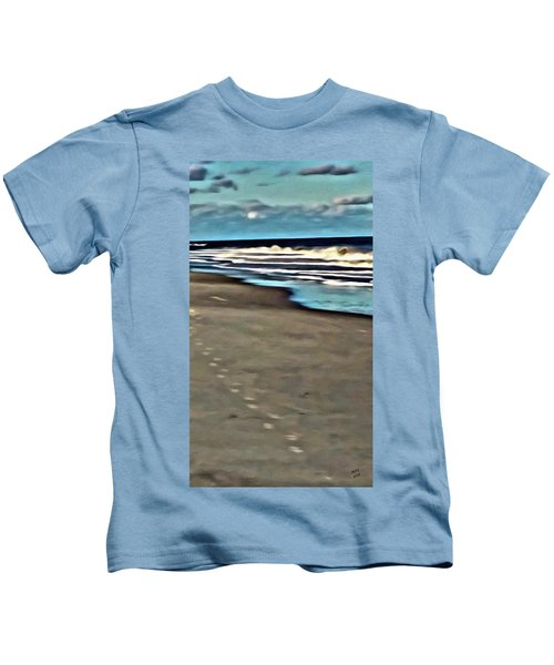 Kids T-Shirt featuring the painting Serenity Walk by Marian Palucci-Lonzetta