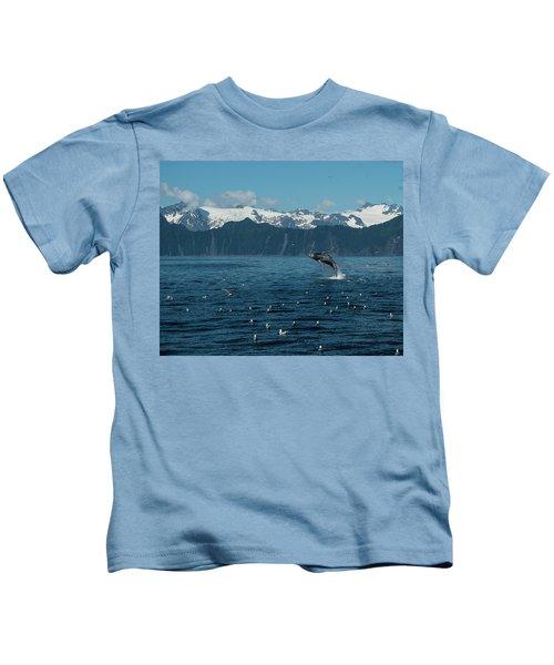 Seward Whale Breach Kids T-Shirt