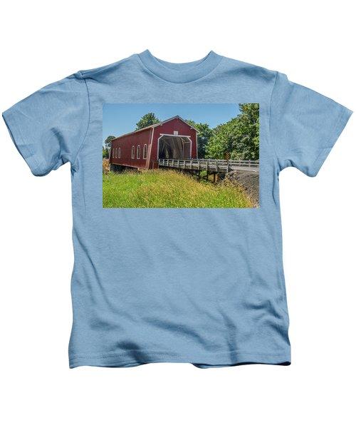 Shimanek Covered Bridge No. 2 Kids T-Shirt