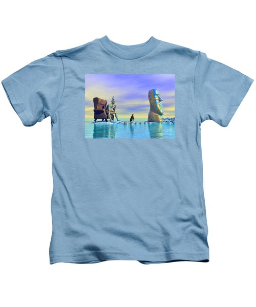 Silent Mind - Surrealism Kids T-Shirt