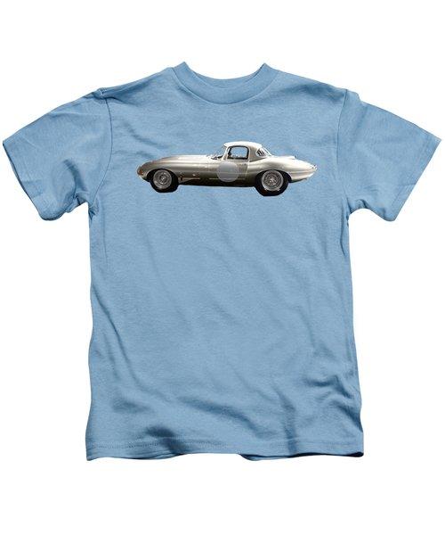 Silver Sports Car Art Kids T-Shirt