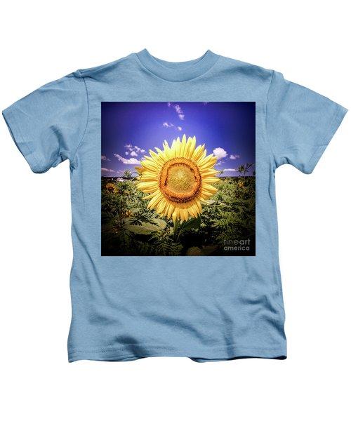 Single Sunflower Kids T-Shirt