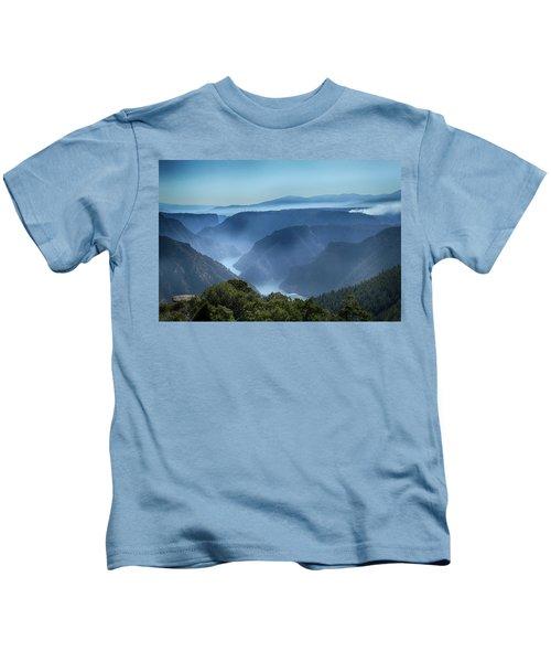 Smoke Over Flaming Gorge Kids T-Shirt