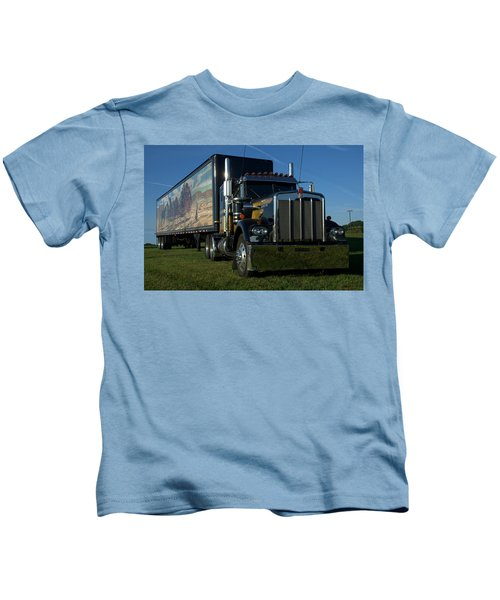 Smokey And The Bandit Tribute Semi Truck Kids T-Shirt