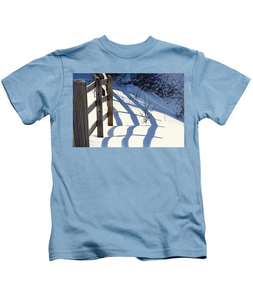 Snow, Sun And Shadows Kids T-Shirt