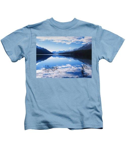 South Mavora Lake, New Zealand Kids T-Shirt