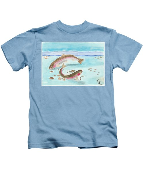 Spawning Rainbows Kids T-Shirt by Gareth Coombs