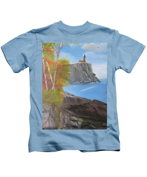 Split Rock Lighthouse Minnesota Kids T-Shirt