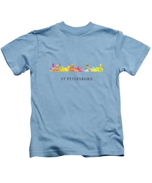 St Petersburg Florida Skyline Kids T-Shirt