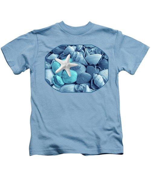 Starfish On The Beach In Blue Kids T-Shirt