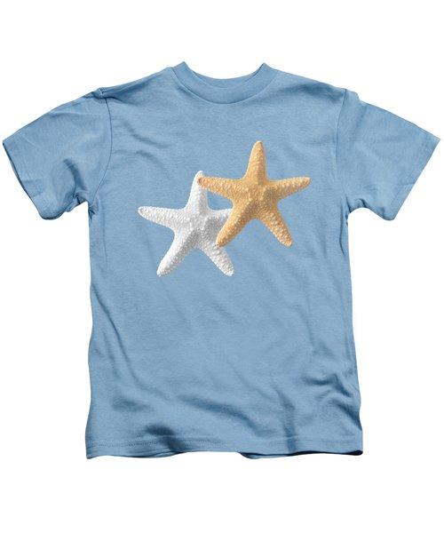 Starfish On Turquoise Kids T-Shirt