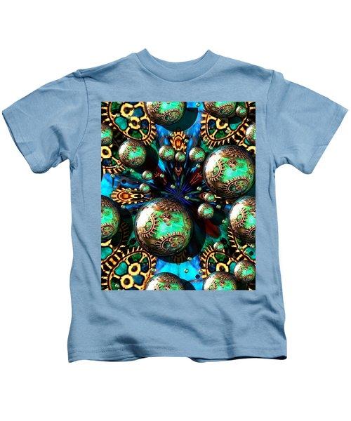 Steampunk Fractal 71216.4 Kids T-Shirt
