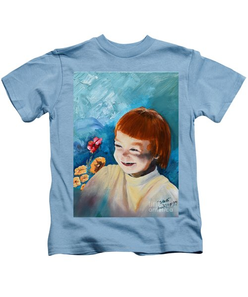 Stefi- My Trip To Holland - Red Headed Angel Kids T-Shirt