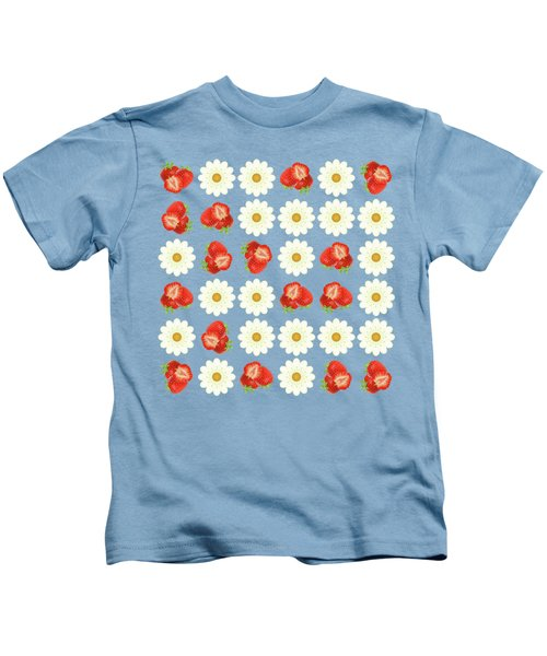 Strawberries And Daisies Kids T-Shirt