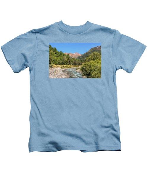 Streaming Through The Alps Kids T-Shirt