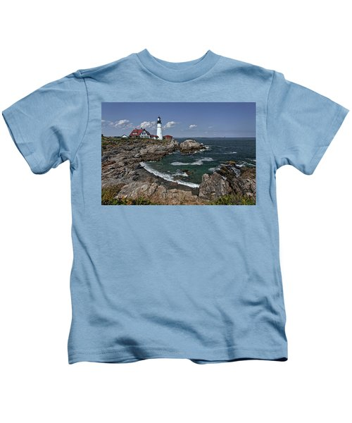 Summer Afternoon, Portland Headlight Kids T-Shirt