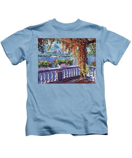 Summer At Lake Como Kids T-Shirt
