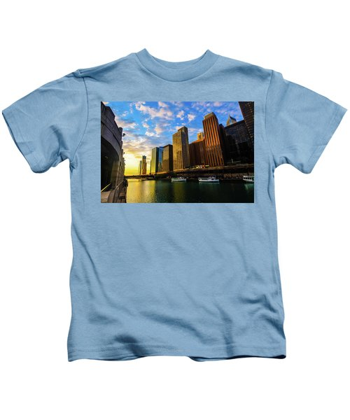 Sunrise At Navy Pier Kids T-Shirt