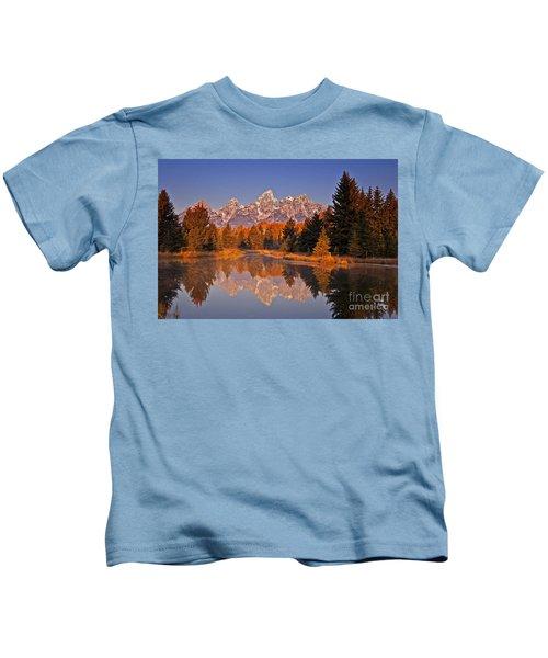 Sunrise At Schwabacher Landing  Kids T-Shirt