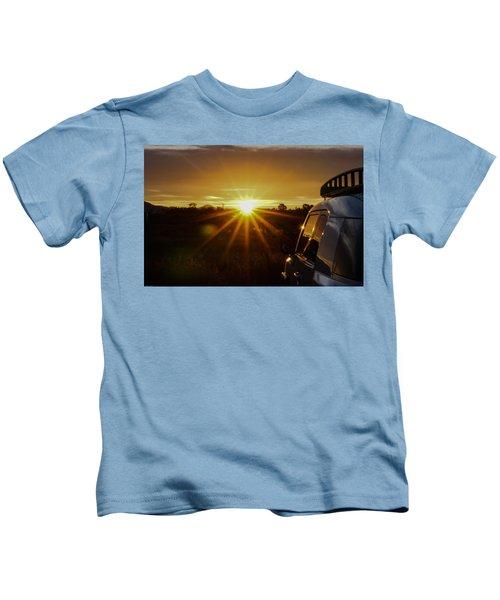 Sunrise And My Ride Kids T-Shirt