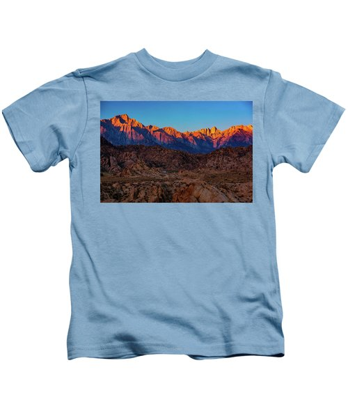 Sunrise Illuminating The Sierra Kids T-Shirt
