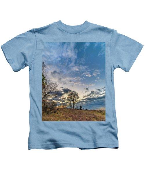 Sunrise On The Back Hill Kids T-Shirt
