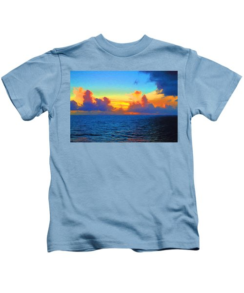 Sunset At Sea Kids T-Shirt