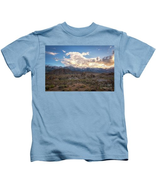 Sunset Over Alabama Hills  Kids T-Shirt